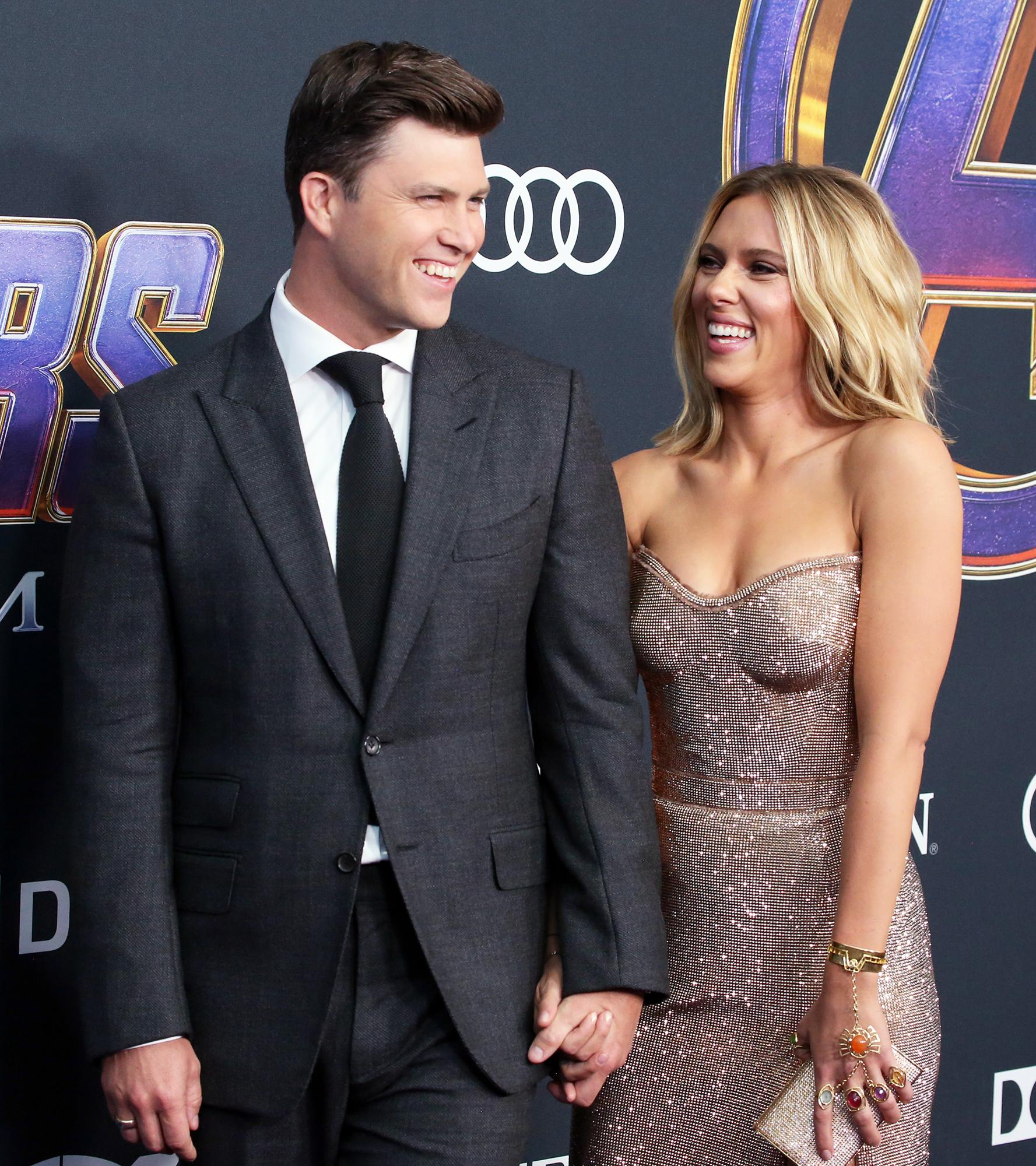 Scarlett Johansson Talks Colin S Jost S Romantic Proposal