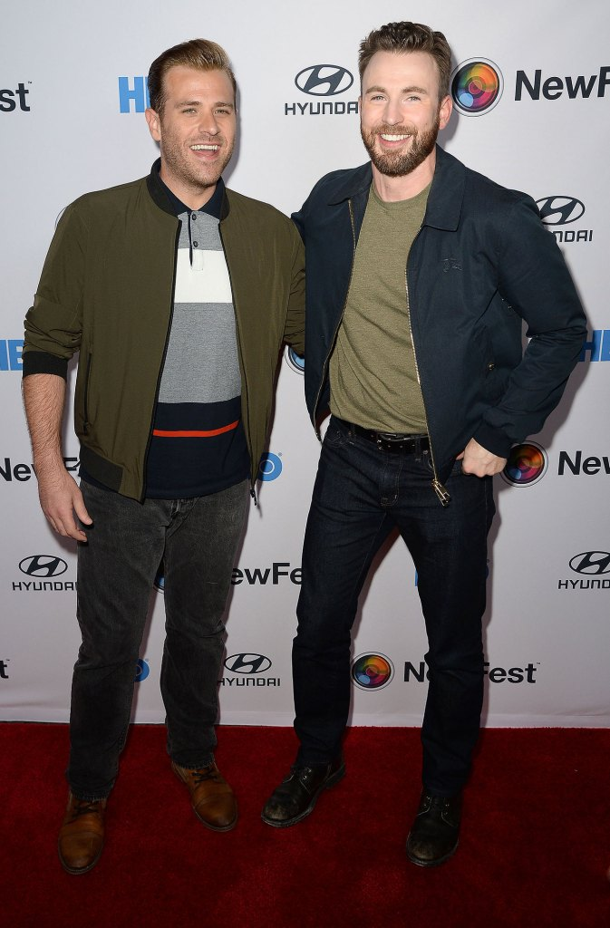 Scott Evans and Chris Evans Red Carpet Brothers