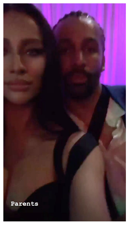Shay Mitchell and Matte Babel Instagram Story Drake Party