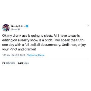 Snooki Drunk-Tweets Jersey Shore Meltdown Blames Editing
