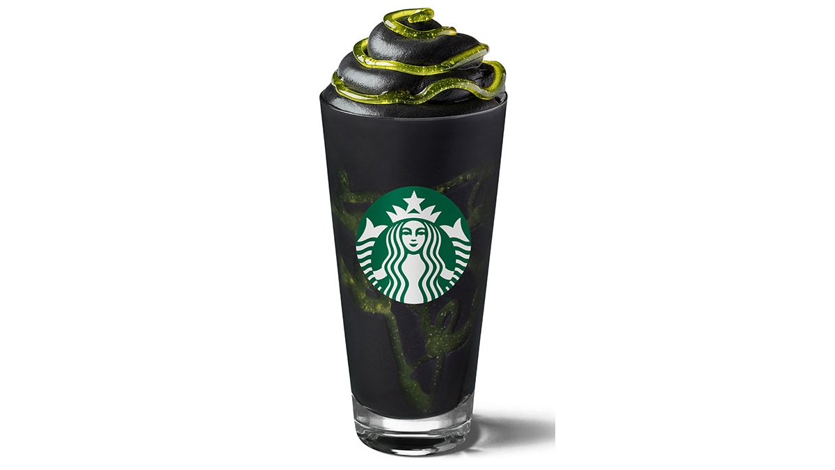Starbucks' New Phantom Frappuccino Contains Black Charcoal Powder, Slime and Looks Too Scary to Drink