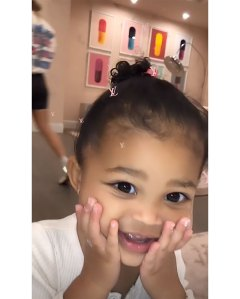 Stormi Plays With Mom Kylie Jenner's New Face Mask