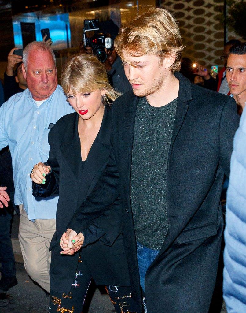 Taylor Swift and Joe Alwyn Holding Hands SNL