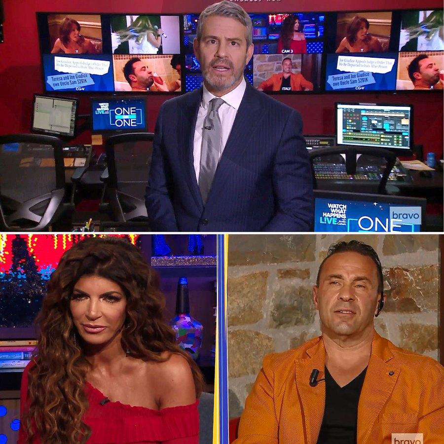 Teresa Giudice Joe Giudice Unlocked Andy Cohen One on One Bravo