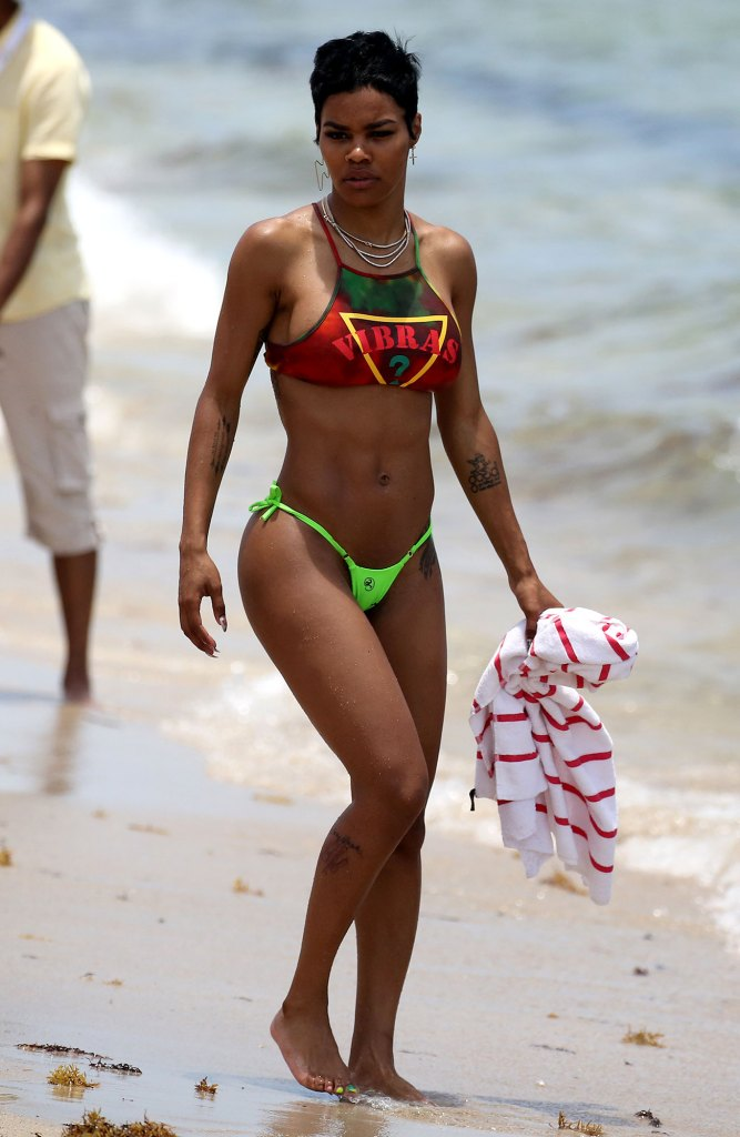 Teyana Taylor Abs Bathing Suit Bikini