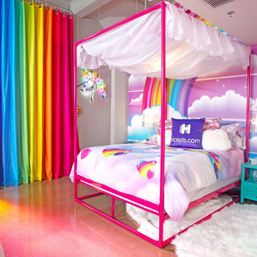 Lisa Frank Hotel Suite Features 90s Snacks More