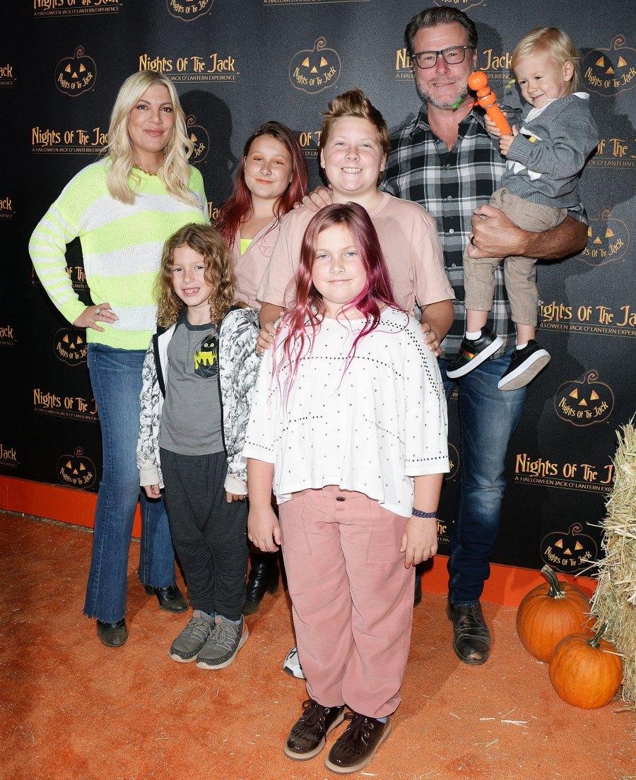 Tori Spelling Defends Kids Pink Hair