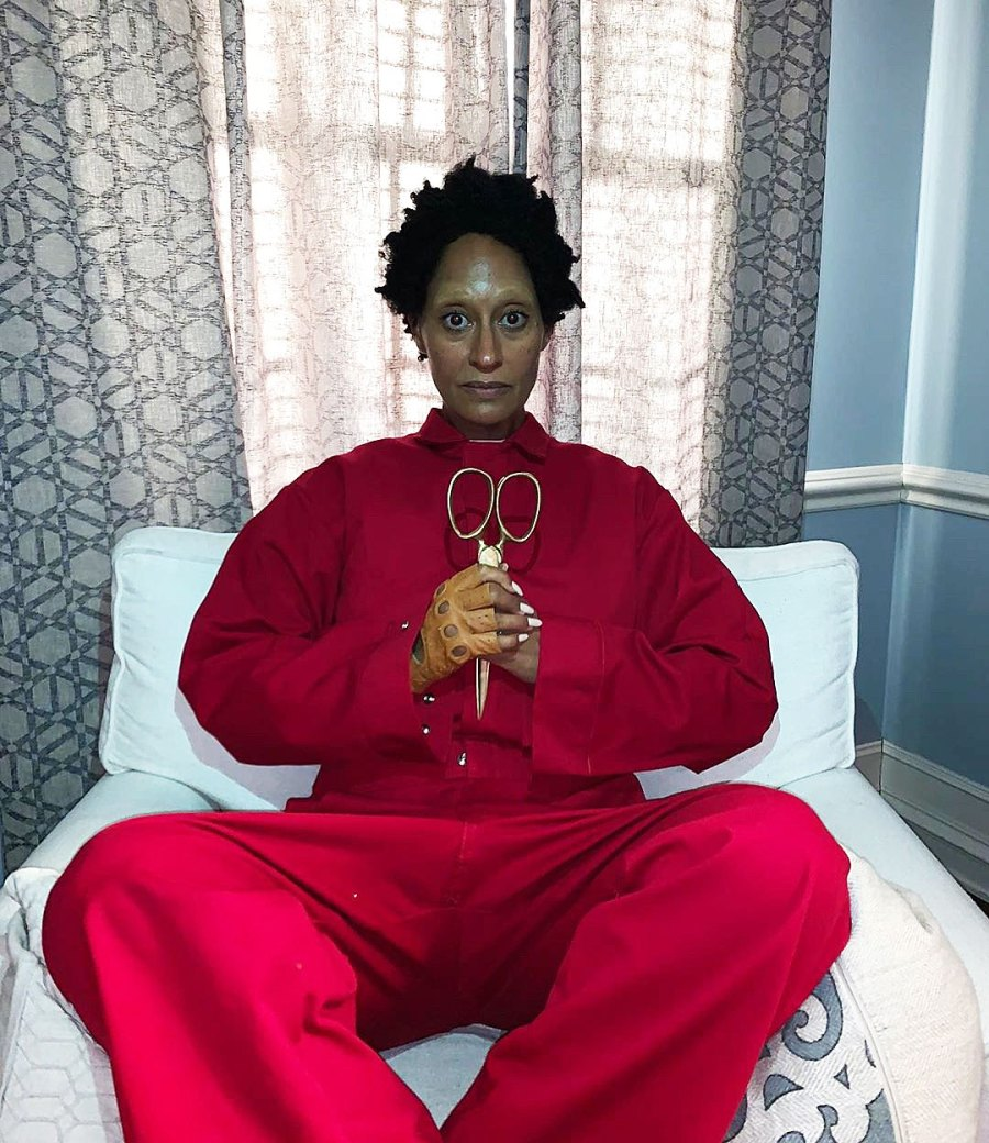 Tracee Ellis Ross as Lupita Nyong'o in Us for Halloween Costume 2019