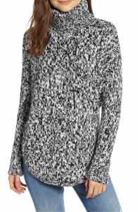 Treasure & Bond Turtleneck Sweater black