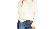 Treasure & Bond Turtleneck Sweater white