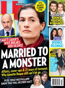 Us Weekly Cover Issue 4319 Annette Roque Breaks Her Silence on Husband Matt Lauer