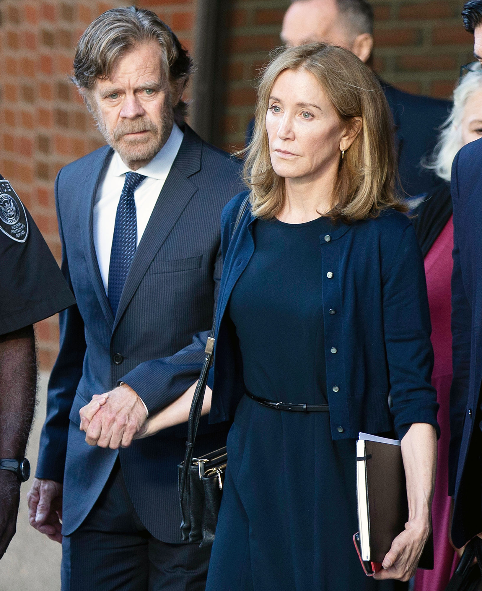 William H Macy and Felicity Huffman Leaving Court Shameless Cast Is Supportive