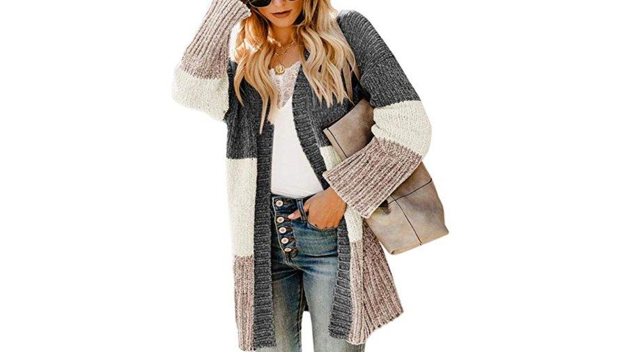 Yacooh Womens Boho chunky sweater