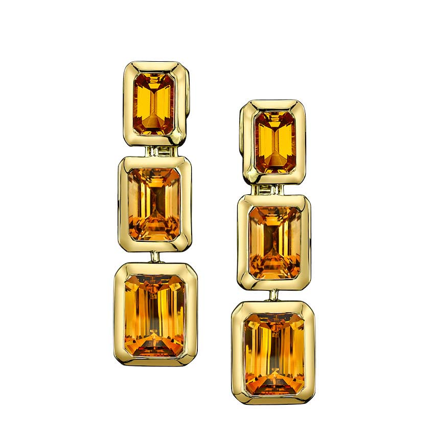 Zahara Tablet Citrine Earrings