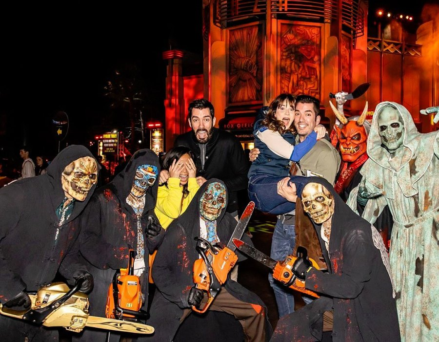 Zooey Deschanel and Jonathan Scott Universal Studios Halloween Horror Nights Instagram