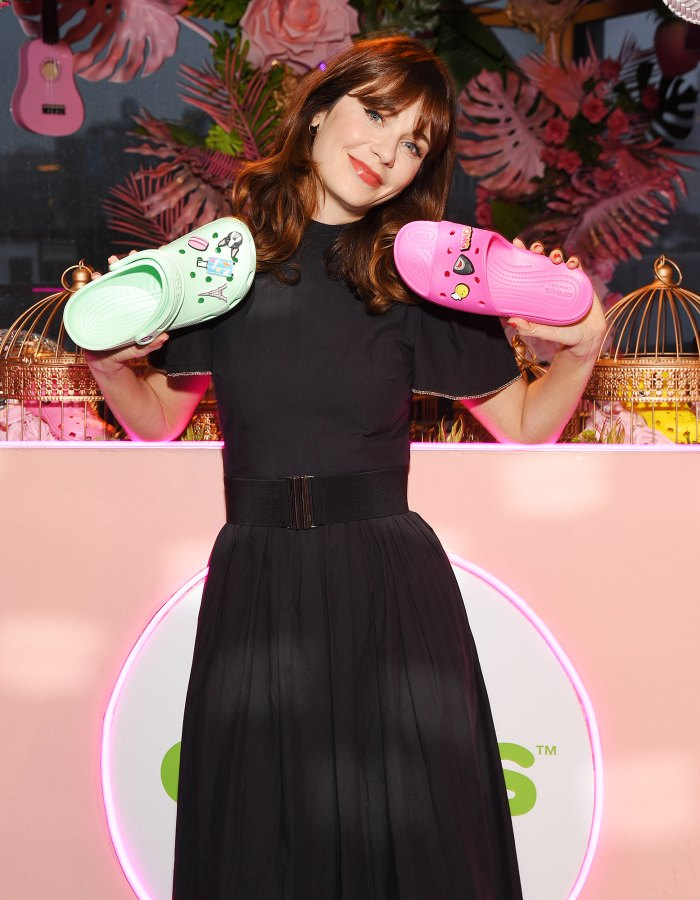 Zooey-Deschanel-crocs