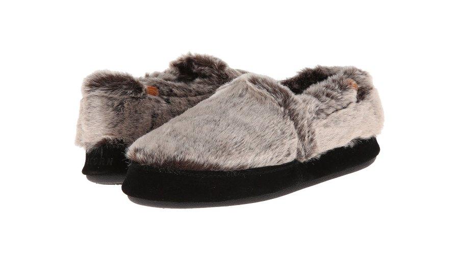 acorn moc slippers chinchilla