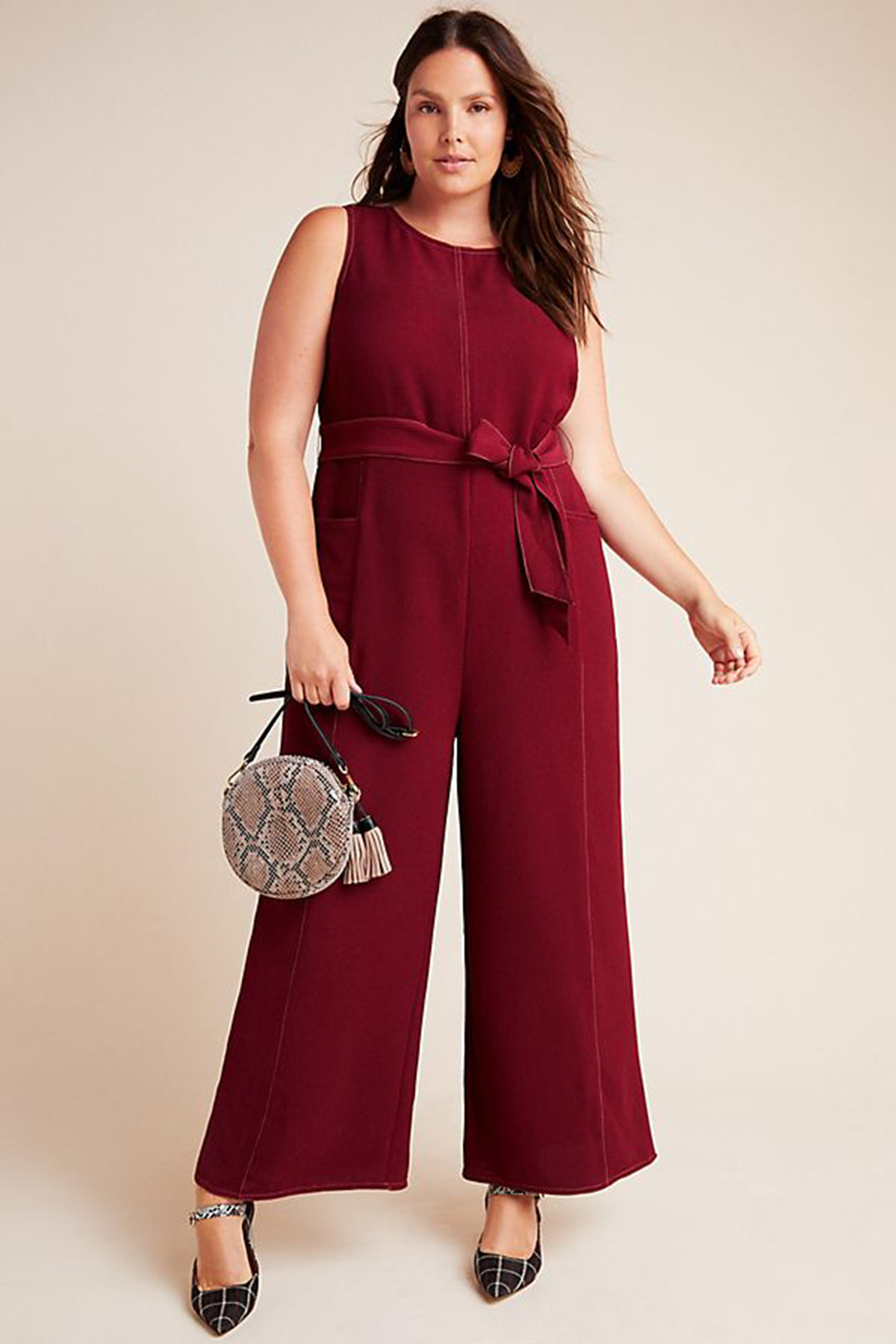 Anthropologie Greylin Colleen Stitched Jumpsuit