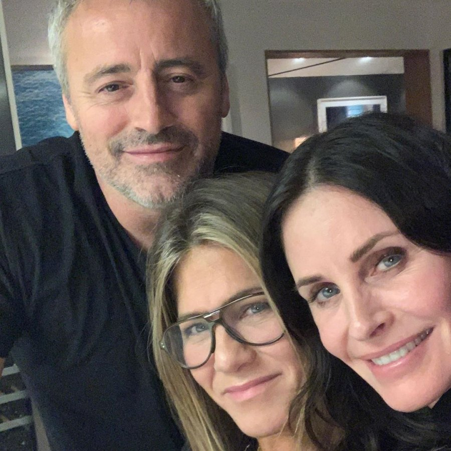 costars reunited Friends Jennifer Aniston, Courteney Cox and Matt LeBlanc