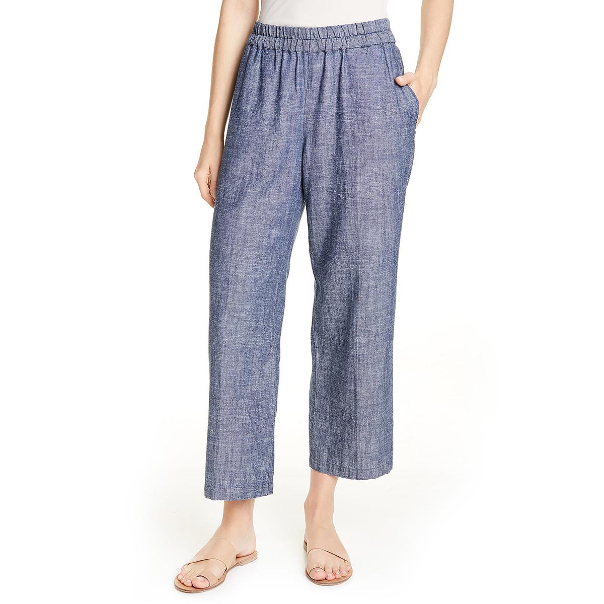 Eileen Fisher Crop Hemp & Organic Cotton Pants