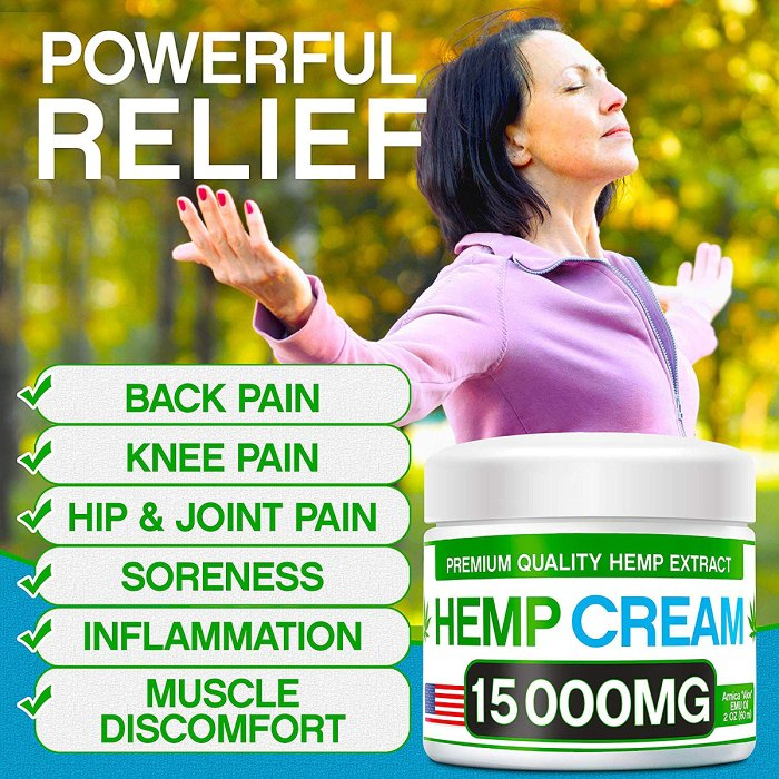 Arvesa Hemp Pain Relief Cream 15,000 MG