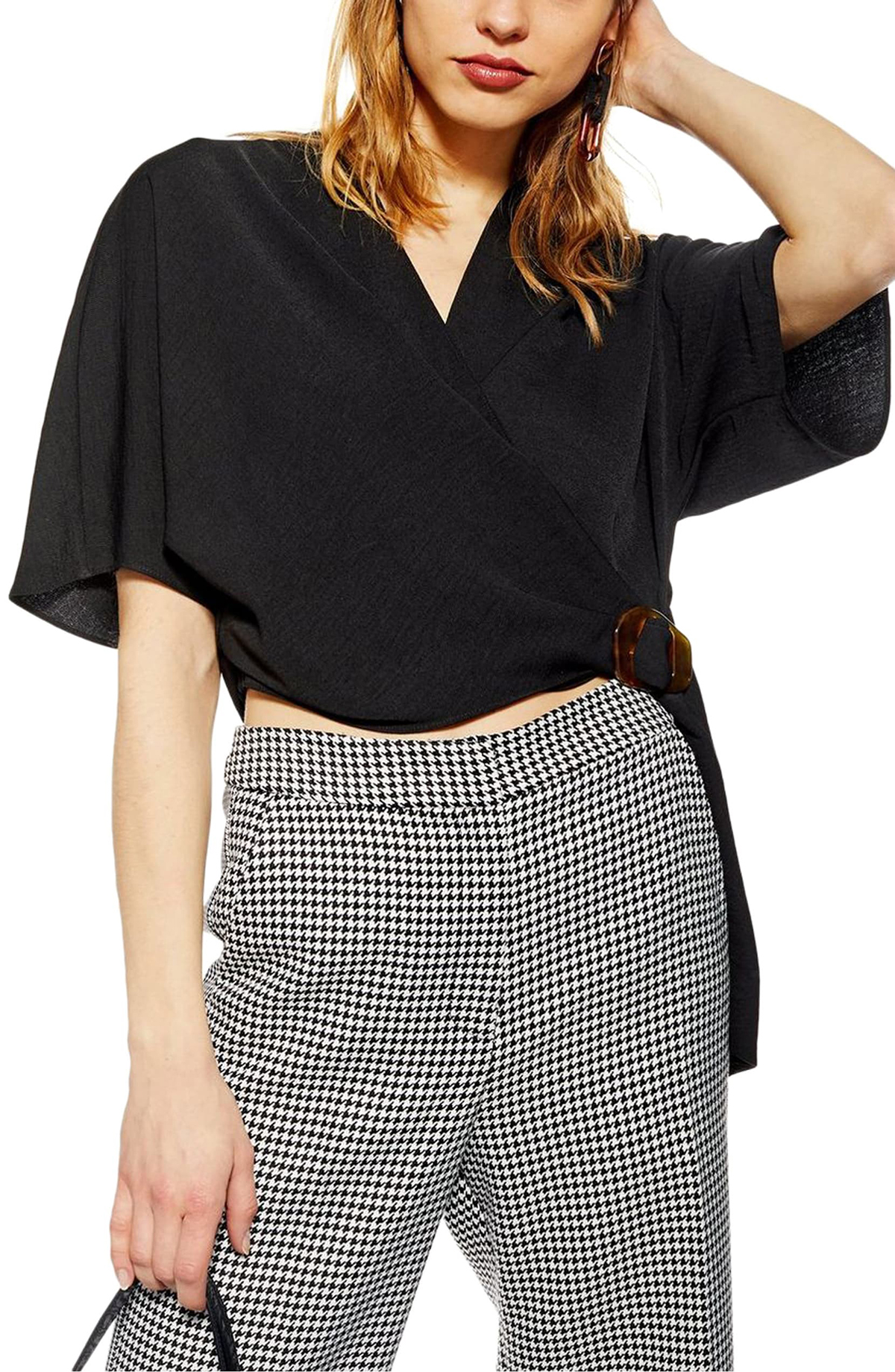 Add a Touch of Glam to Your Everyday Style With This 50%-Off Wrap Top