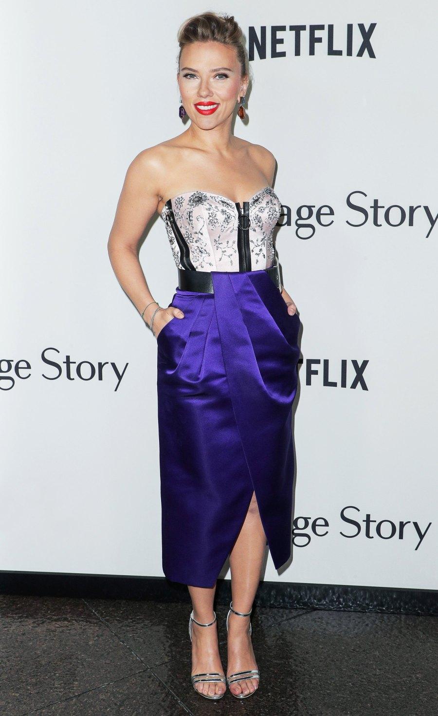 Scarlett Johansson Bustier Dress November 5, 2019
