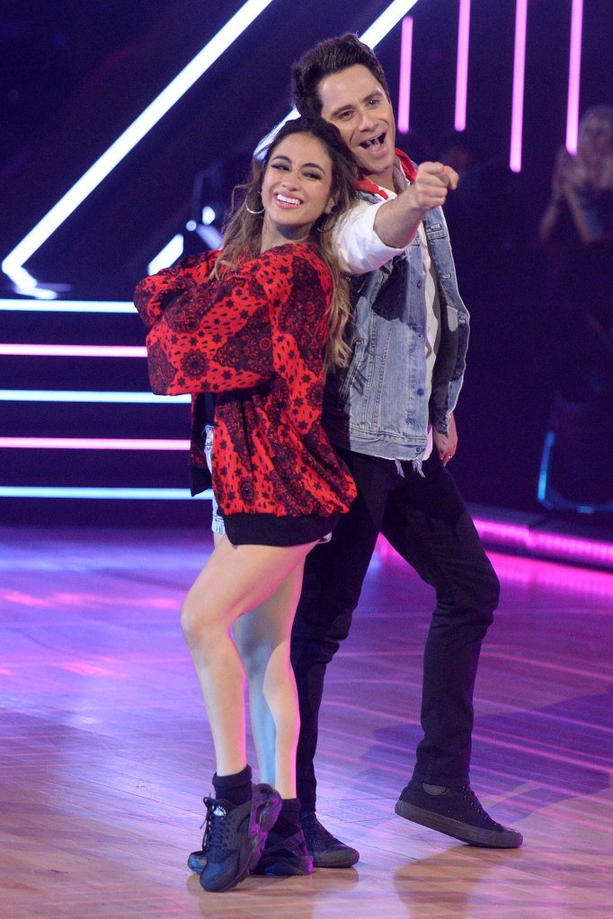 Ally Brooke and Sasha Farber DWTS Dancing With The Stars