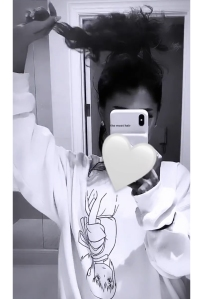 Ariana Grande Curly Ponytail Instagram
