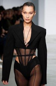Bella Hadid Wearing Lingerie Runway