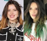 Bella Thorne Hair Change Green Tips
