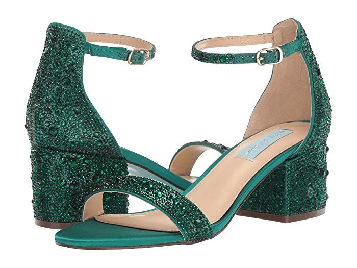 Blue by Betsey Johnson Mari Heeled Sandal (Green)