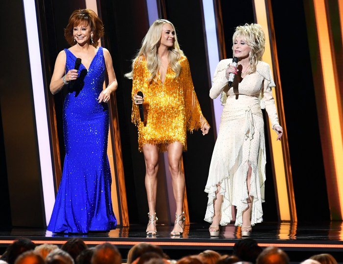 Carrie Underwood, Reba McEntire, Dolly Parton Address Brad Paisley's Absence in Girl Power-Themed Monologue at CMAs 2019