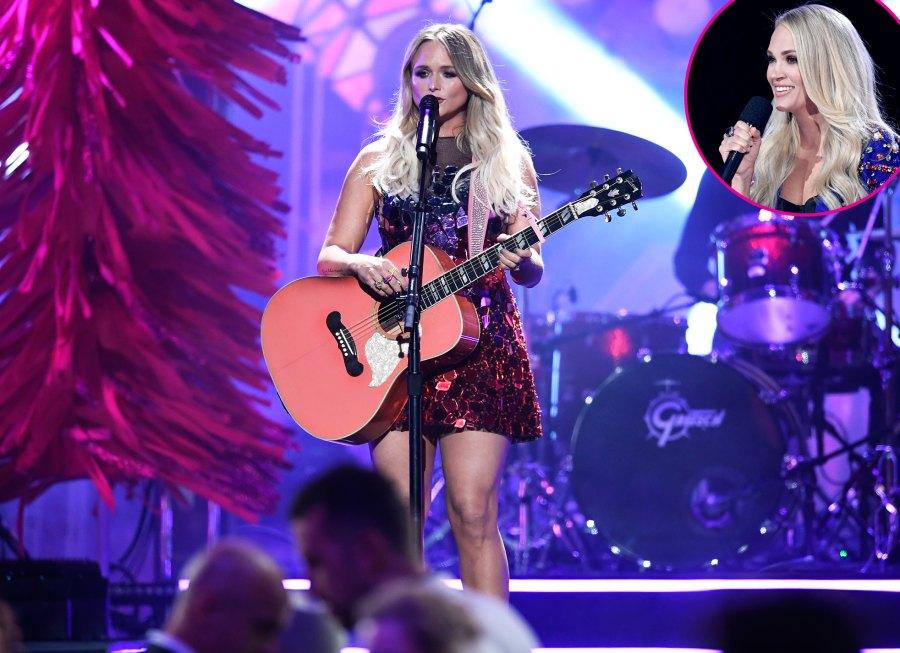 Carrie-Underwood-dancing-to-Miranda-Lambert-CMAs-2019