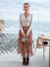 Catt Sadler Stunned in a Leopard Print Skirt at the LALA LÉXA Luncheon in Malibu