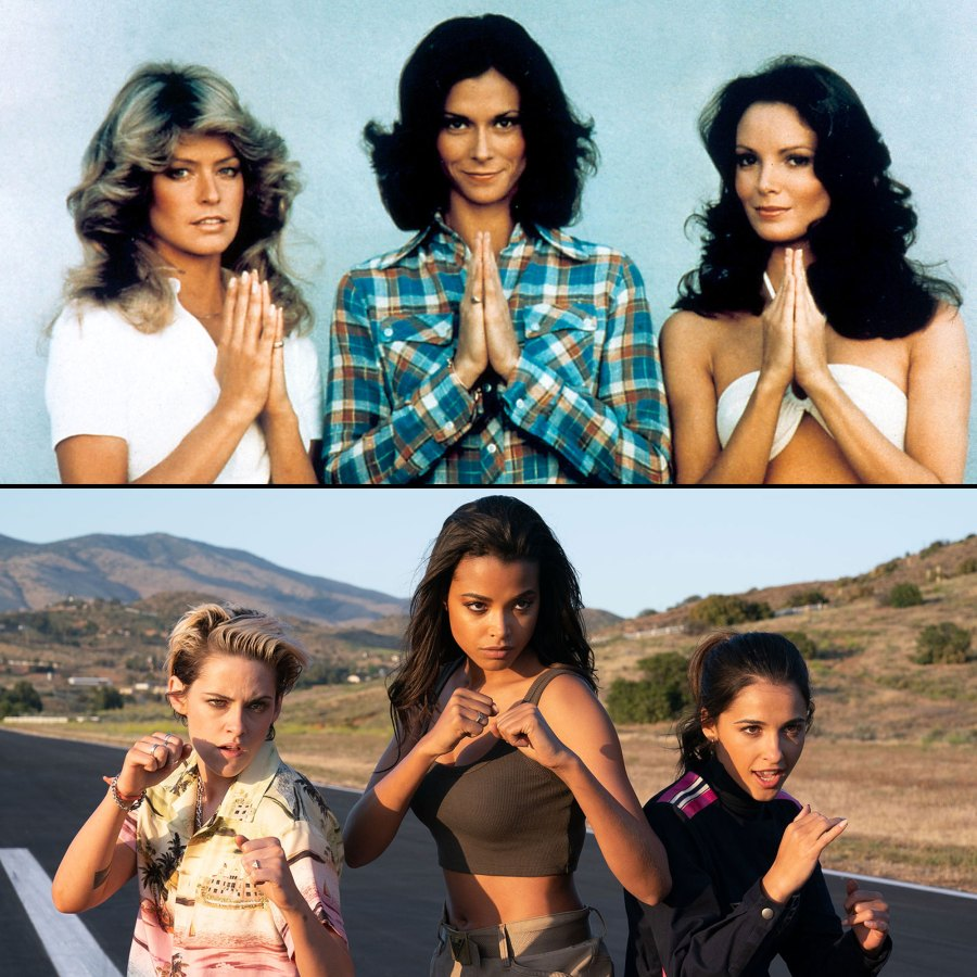 Farrah Fawcett, Kate Jackson, Jaclyn Smith, Kristen Stewart, Ella Balinska and Naomi Scott Charlies Charlie's Angels Through the Years