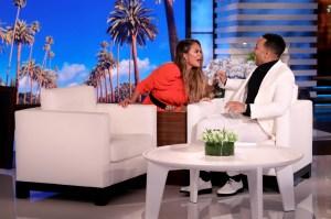 Chrissy Teigen Scares John Legend on 'The Ellen DeGeneres Show'