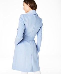 Cole Haan Wrap Coat blue