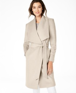 Cole Haan Wrap Coat bone