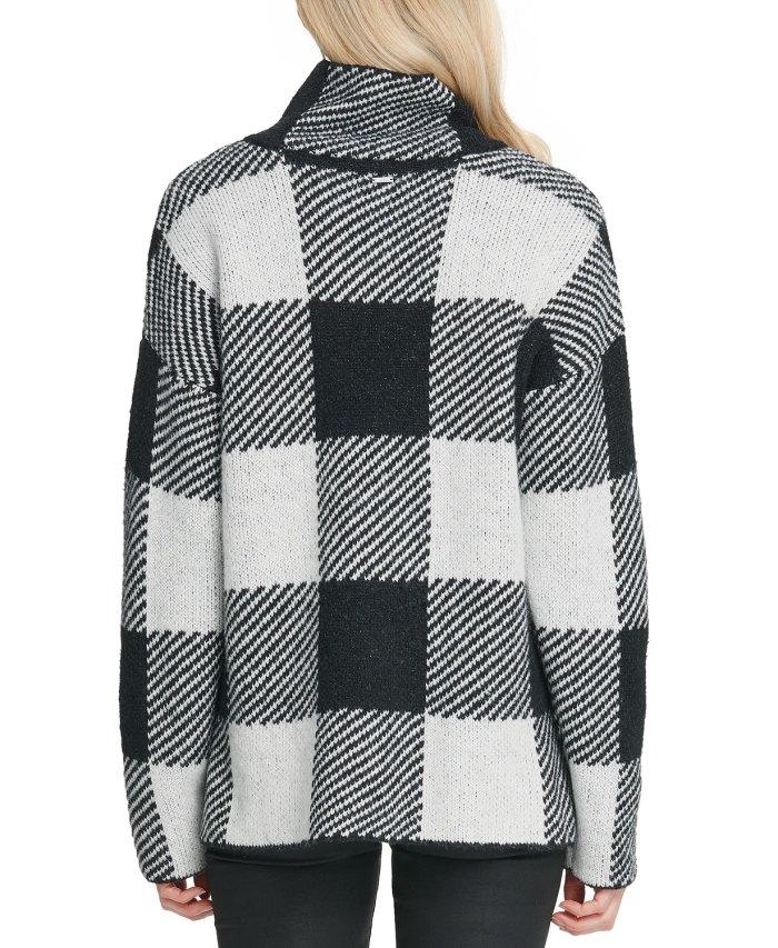 DKNY Striped High-Low Hem Sweater (back)