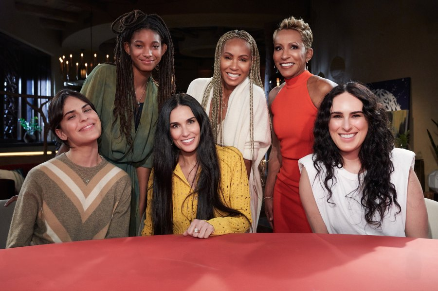 Demi Moore and Daughters Cover Addiction, Sex and Ashton on Red Table Talk