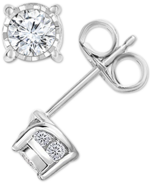 TruMiracle Diamond Stud Earrings (1/2 ct. t.w.) in 14k White Gold, 14K Gold or 14K Rose Gold