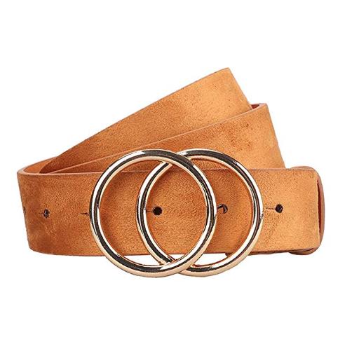 Earnda Women's Faux Leather Belt (Khaki)