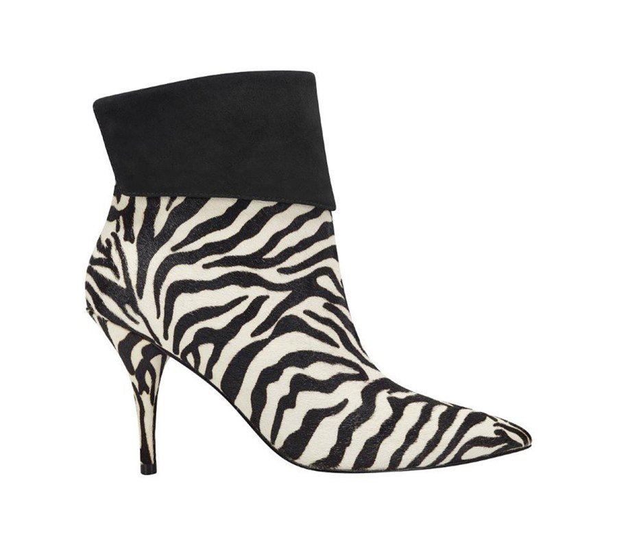 Elizabeth Sulcer Boot Collection - Fifi Pointy Toe Bootie in Zebra Print
