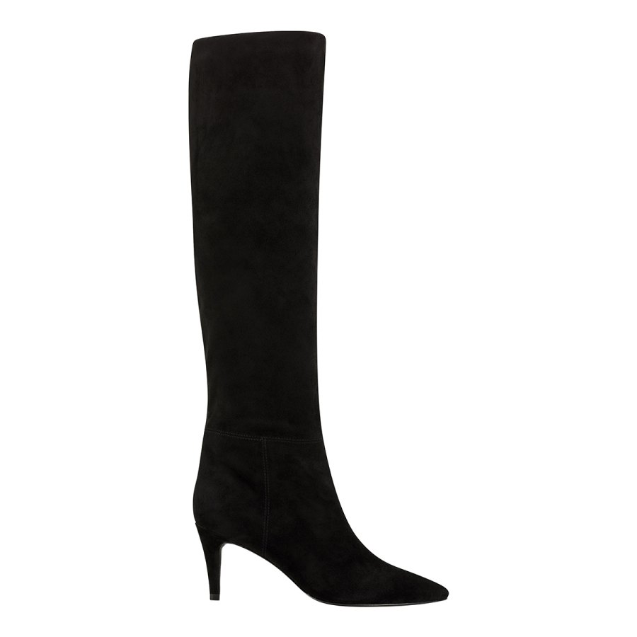 Elizabeth Sulcer Boot Collection - Ginnie Tall Boot in Black Suede