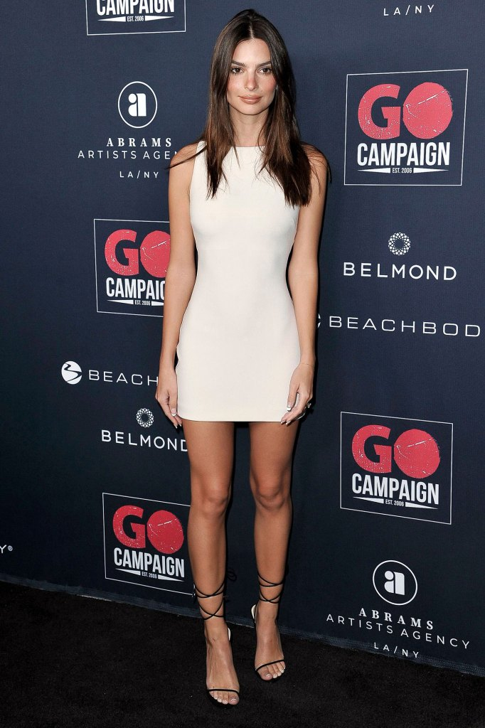 Emily Ratajkowski 13th Annual Go Gala White Short Dress