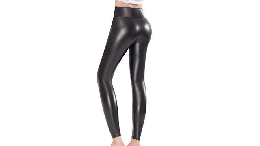 Ginasy Faux Leather Leggings black