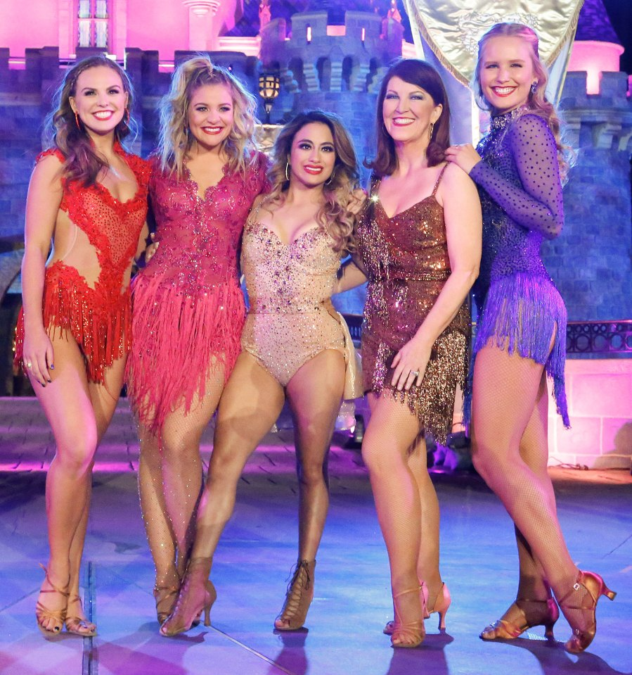 FLANNERY, SAILOR BRINKLEY-COOK Hannah Brown, Lauren Alaina, Ally Brooke, Katie Flannery, Sailor Brinkley-Cook DWTS Dancing With The Stars