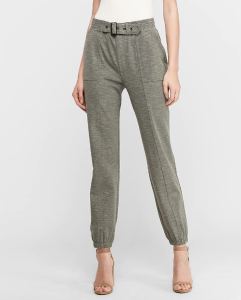 High Waisted Utility Knit Jogger Pant (Olive Green)