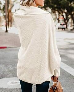 Imily Bela Batwing Oversized Wrap Cardigan white